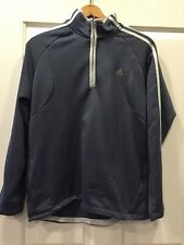 ADIDAS MEN'S Gray Quarter ZIP PULLOVER LONG SLEEVE SHIRT SIZE L RCP