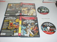 STAR WARS BATTLEFRONT 1 & 2 both games in cases for Playstation 2 PS2