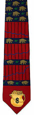 Bear Market Mens Necktie Stock Broker Money Banker Vicky Davis Silk Neck Tie New