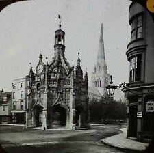 Chichester Cathedral,  Spire, Cross, Sussex, England,  Magic Lantern Glass Slide