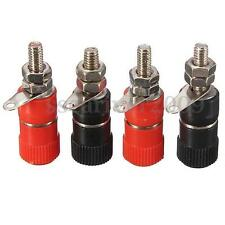 4Pcs Speaker Amplifier Terminal Binding Post Female Connector For Banana Plug