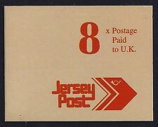 1993 JERSEY SB49 POST 8x TO THE UK BOOKLET FINE MINT
