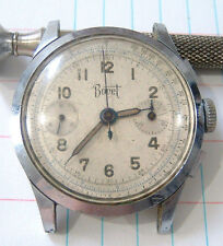 Vintage Mens Bovet 2 Register Chronograph Watch for Restore Repair Parts