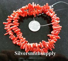 """Chinese coral, dark pink, chip beads 16"""" strand bs291"""