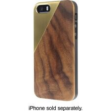 Genuine Native Union CLIC Metal/Wood Handcrafted Case for iPhone 5/5s Tan/Brass