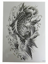 3D Waterproof Body Art Temporary Tattoo EXTRA LARGE Sheet 21x15cm