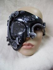 Steampunk Eye Mask Industrial Futuristic Robot Apocalyptic Warrior Doom Cyborg