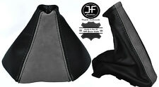 BLACK LEATHER GREY SUEDE FOR VAUXHALL OPEL ASTRA TWINTOP 2005-2010 GAITERS SET