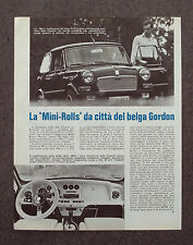 AE54 - Clipping-Ritaglio - 1976 - MINI ROLLS DEL BELGA GORDON , NOTIZIE