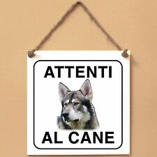 Northern Inuit 1 Attenti al cane Targa cane cartello ceramic tiles