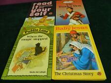 4 vintage ladybird books Gingerbread man , the tinder box , the baby jesus ,