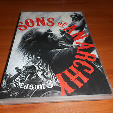 Sons of Anarchy: Season Three (DVD, 2011, 4-Disc Set) 3 3rd Third Used