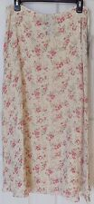 LAUREN Ralph Lauren SKIRT 'ENGLISH GARDEN' floral print Cream Rose - sz 12 - NEW