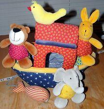 AWARD WINNER Sigikid Stuffed Animal Boat Plush Noahs Ark Style Baby Activity Toy