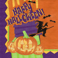 4 Motivservietten Servietten Napkins Tovaglioli  33x33cm Happy Halloween (882)