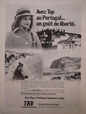 5/1975 PUB TAP TRANSPORTS AERIENS PORTUGAL PORTO MADERE HOTESSE AIR FRENCH AD
