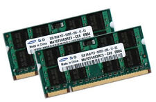 2x 2gb 4gb di RAM ddr2 200 pin 667 Mhz per Notebook MEMORIA SODIMM pc2-5300s