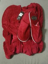 BNWT M&Co Red Fluffy Dressing Gown Size 10 and Slipper Set