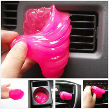 Car SUV Pickup Interior Dashboard Armrest Box Dust Hairs Pink Cleaning Gel Glue