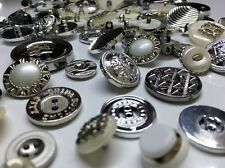 900g Silver Mixed Buttons Scrapbooking Sewings fastening connector colsure beads
