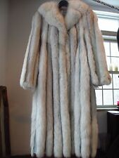 "SILVER FOX FUR COAT LONG 44"" CANADIAN FURRIER GORGEOUS LINES EXCELLENT CONDITION"