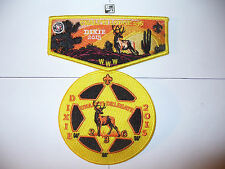Unaliyi Lodge 236, 2015, 100th Ann,OA, SR-5,Dixie Conclave,2 Part Set,YEL Bdr,SC