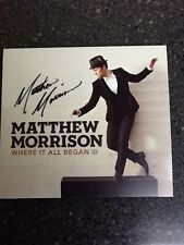 Matthew Morrison Autographed CD - Mr. Will Schuester On Glee