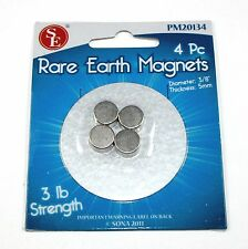 Bright Metal Plated Rare Earth 3lb Magnets - Lot of 4     ( 04N003 )