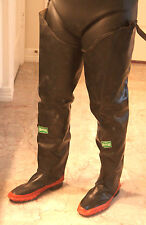 Rare Vintage 1950's Servus Rubber Hip Waders Boots US9 UK8 EU42 Watstiefel New