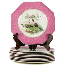 Group of 10 Wedgwood Imperial Porcelain Game Plates Hexagonal Pheasant Birds