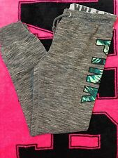 Victoria's Secret PINK Fern Gym Pant Marled Gray Sweatpants Small S NWT