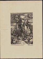 ALBRECHT DÜRER  - jesus christ agony in the garden  * rare RELIGIOUS art PRINT