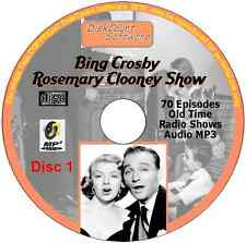 Bing Crosby, Rosemary Clooney  - 201 Old Time Radio Shows MP3 Audio 3 CDs 65 hrs