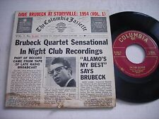 w PICTURE SLEEVE Dave Brubeck at Storyville Vol. 1 1954 45rpm Double EP VG+