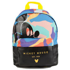 "Neff x Disney ""Abstract"" Mickey Mouse Backpack (Multi) Leather School Book Bag"