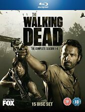 The Walking Dead Season 1 - 4 Blu Ray Boxset New Sealed