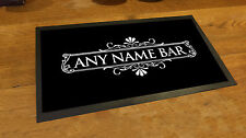 Personalised White Cocktail Label bar runner counter mat pubs and clubs