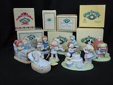 Lot of 7 Cabbage Patch Kids Porcelain Figurines Boxes w/tags Bedtime, Clubhouse