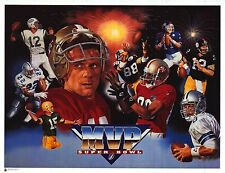 SPORTS POSTER~Super Bowl MVPs Collage Print Joe Montana Troy Aikman Namath Rice~