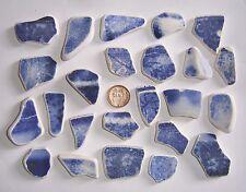 Scottish Mar de Cristal de playa encuentra 24 varios fragmentos de cerámica-Blues