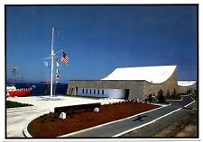 Columbia River Maritime Museum Postcard Astoria Oregon Boat Flag Unposted
