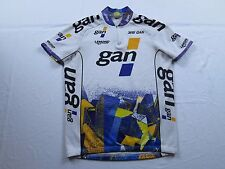 Stretched Waist Vtg 90s Greg Lemond GAN Tour de France Bike Cycling Jersey Sz L