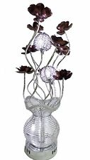 Modern Contemporary Aluminium Silver Flower Design Table Lamp Light G4 Bulb