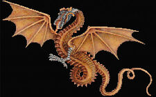 GOLDEN Dragon contato CROSS STITCH KIT
