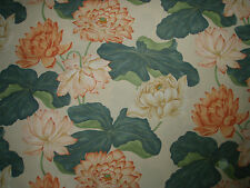 "SANDERSON CURTAIN FABRIC DESIGN ""Kew"" 7.5 METRES TANGERINE AND STONE (750 cm)"