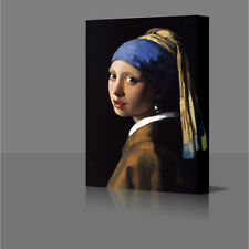 "Large 30"" Jans Vermeer Girl With The Pearl Earing  Framed Canvas Art Picture"