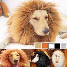 Haustier Perücke Löwe Mähne Fell Karneval für Hund Halloween Kleidung Kostüm S