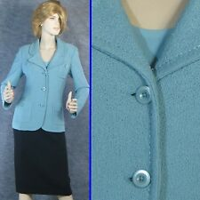 STUNNING! ST JOHN  KNIT BLUE JACKET SZ 8 MINT!