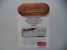 advertising Pubblicità 1973 BISCOTTI LAZZARONI