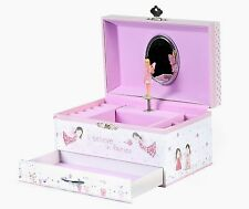 Reduced Floss & Rock Fairy Blossom Girls Wind Up Musical Jewellery Trinket Box